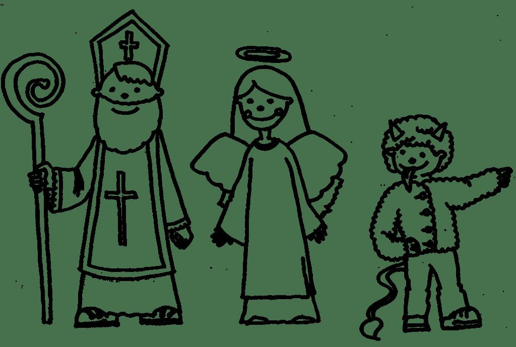 Mikuláš, anděl a čert