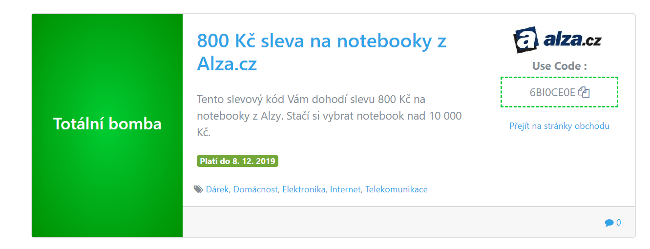 Alza slevový kupon notebooky