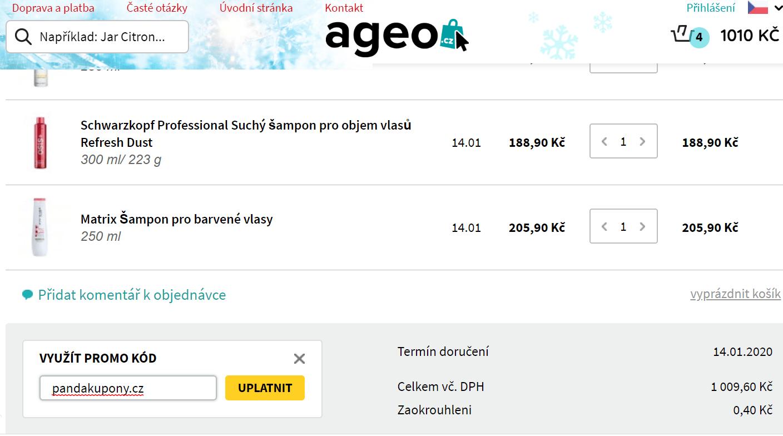 Slevový kód Ageo