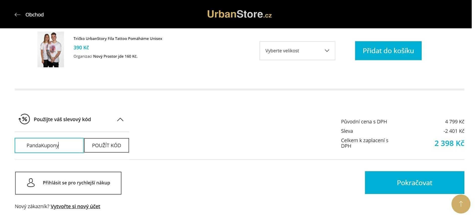 UrbanStore slevový kód