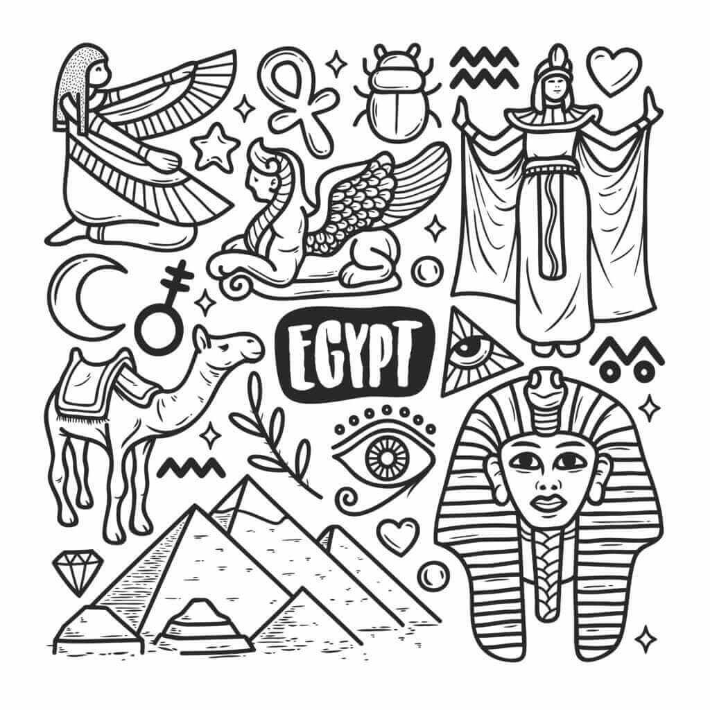 Omalovánka Egypt
