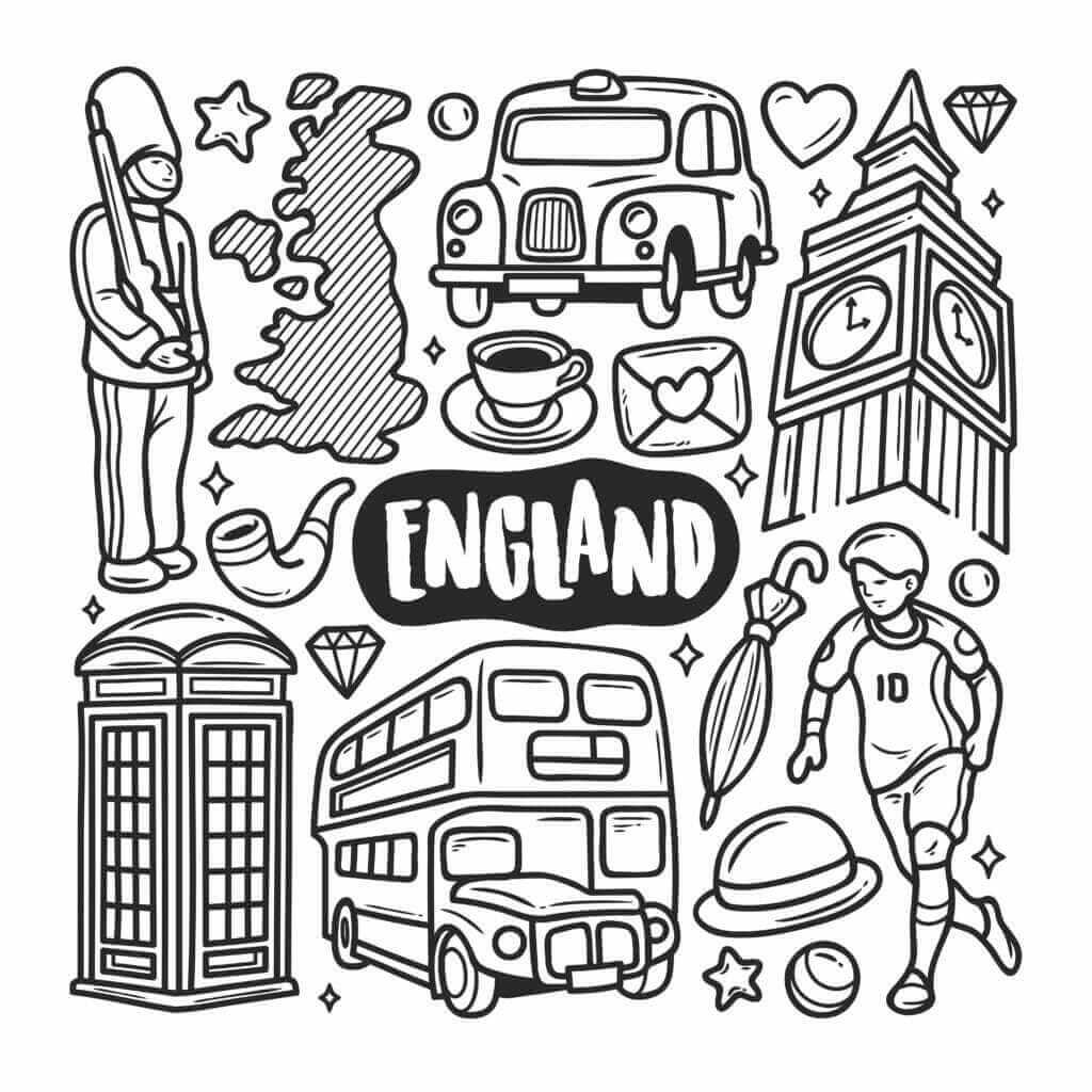 Omalovánka Anglie
