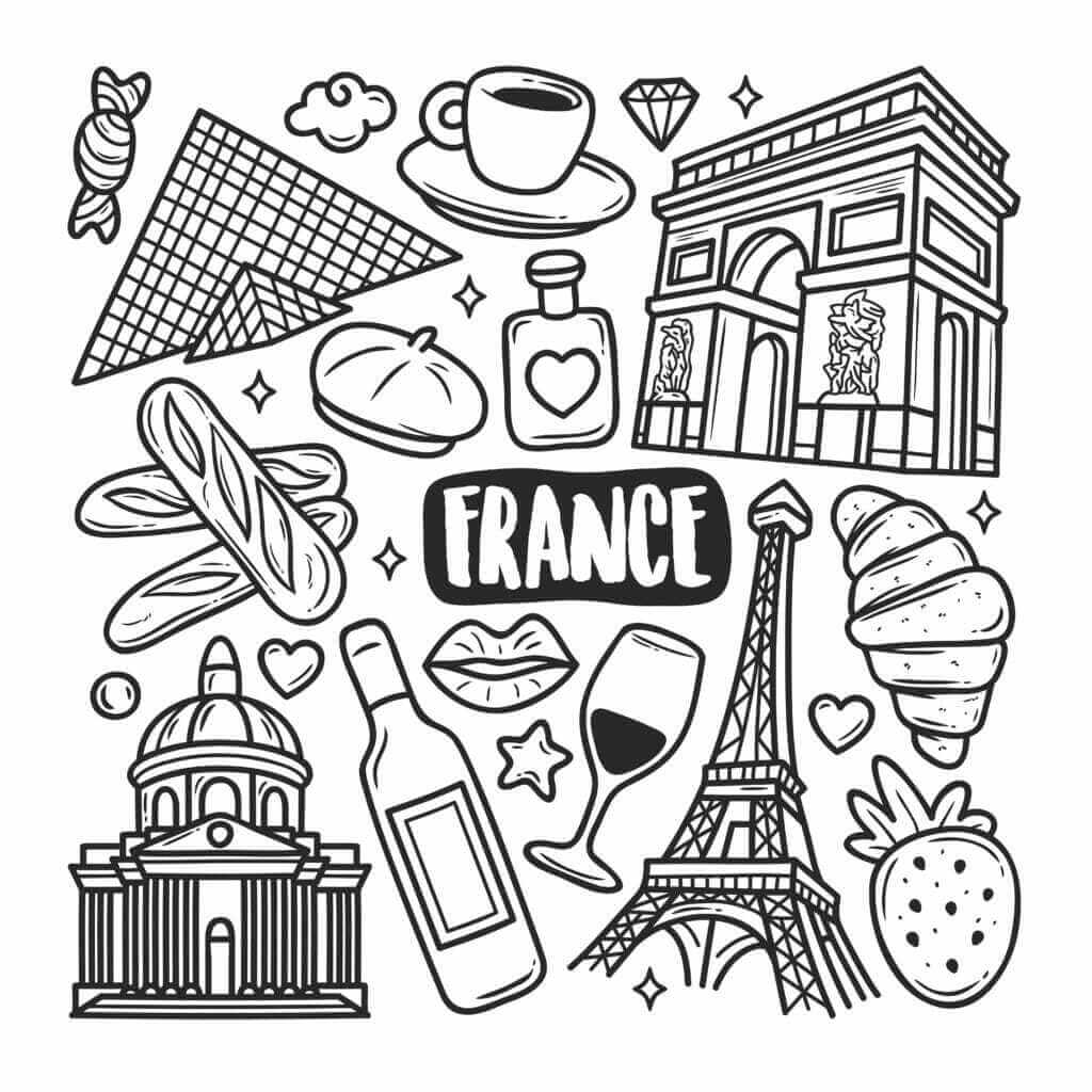 Omalovánka Francie