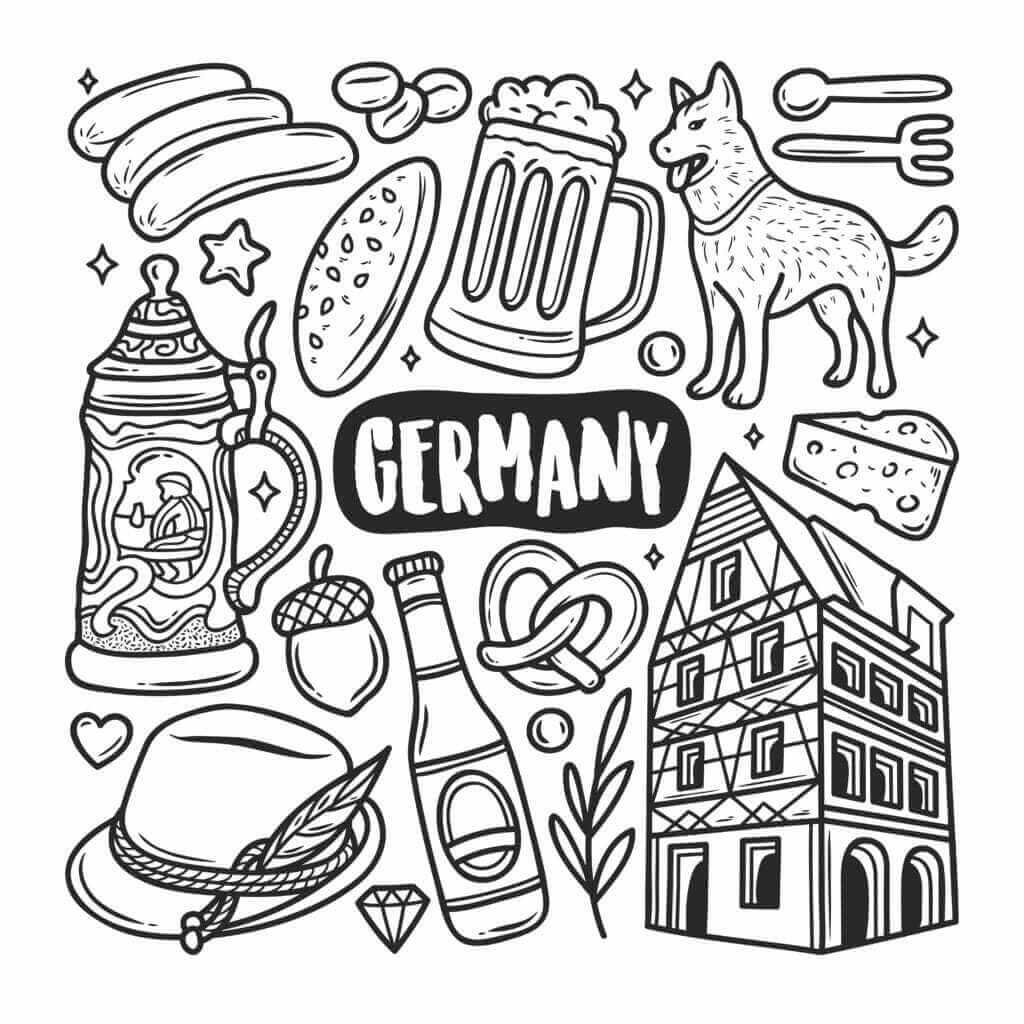 Omalovánka Německo