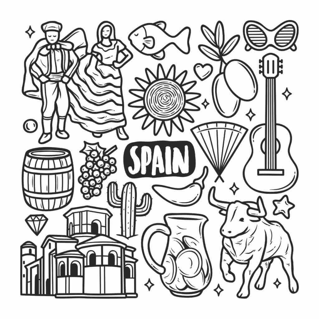 Omalovánka Španělsko