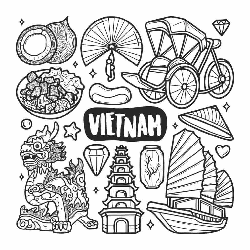 Omalovánka Vietnam