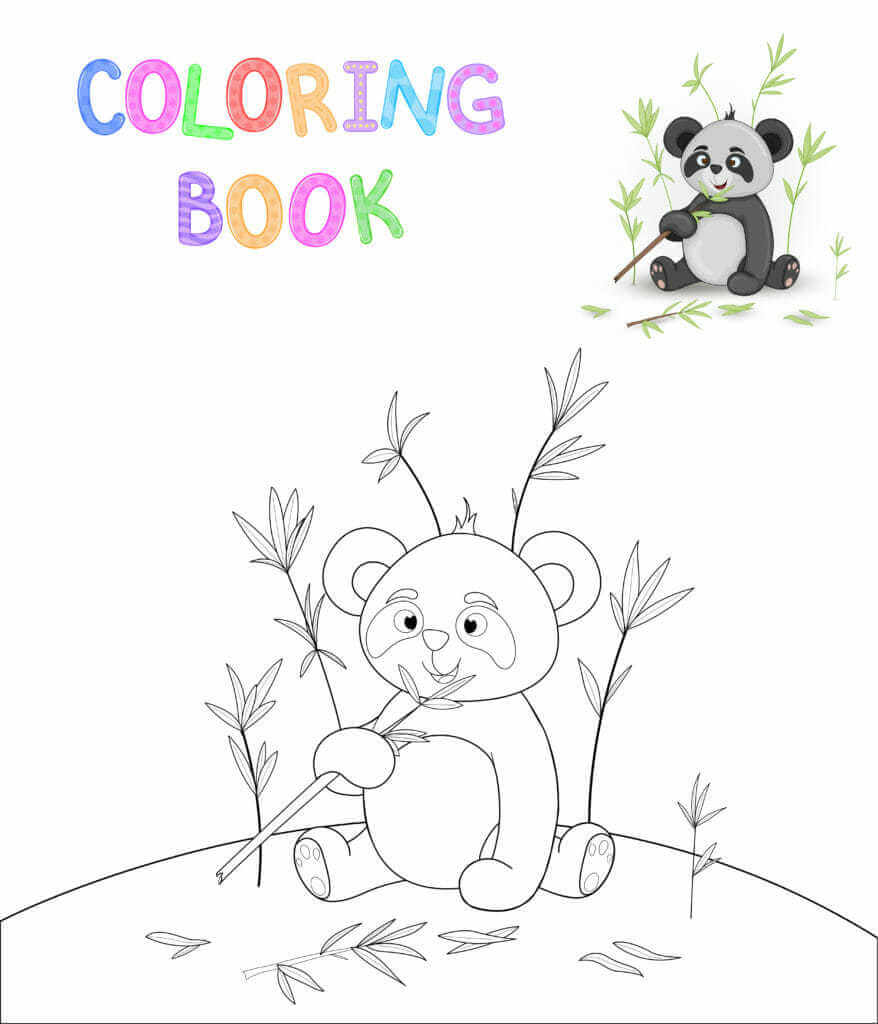 Omalovánka Panda