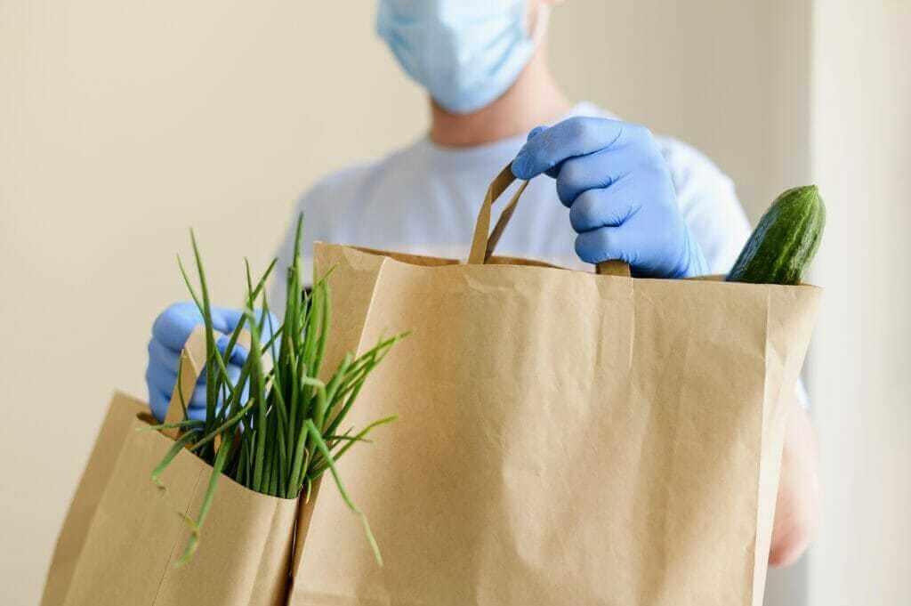 Online nákup potravin v době pandemie
