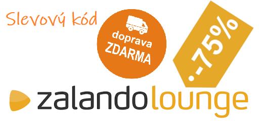 Slevový kód Zalando Lounge na dopravu zdarma a slevu 75%.