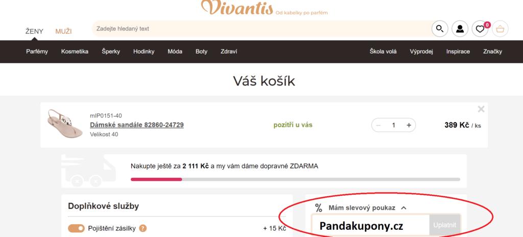 Slevový poukaz Vivantis