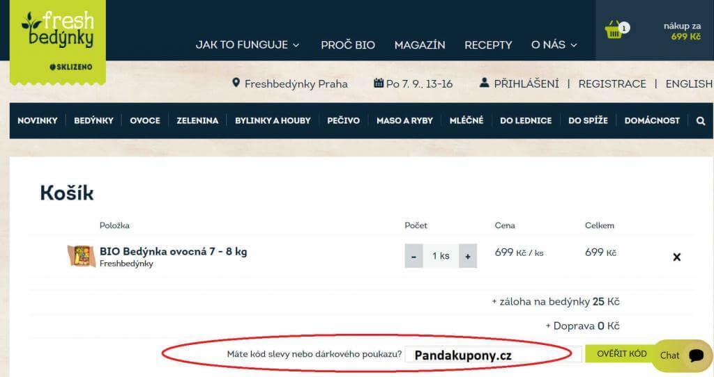 Slevový kupón Freshbedynky.cz