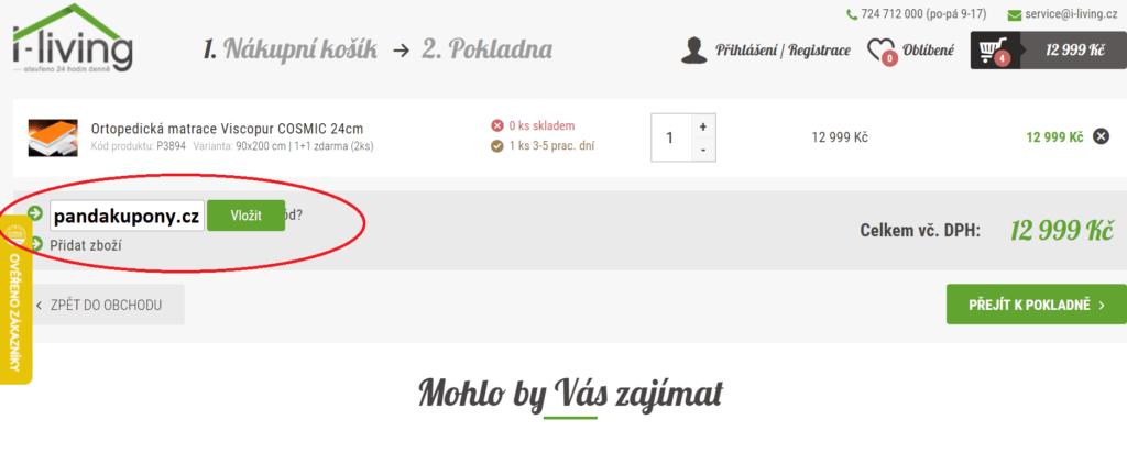 Slevový kupón I-living.cz