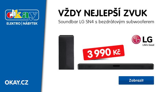 Soundbar LG SN4 ve slevě