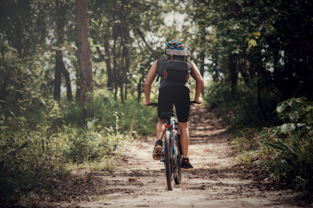 cyclist sunny day