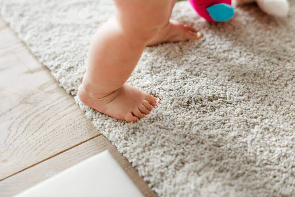 closeup baby s legs while standing