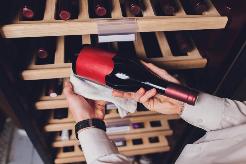 storing bottles wine fridge alcoholic card restaurant cooling preserving wine